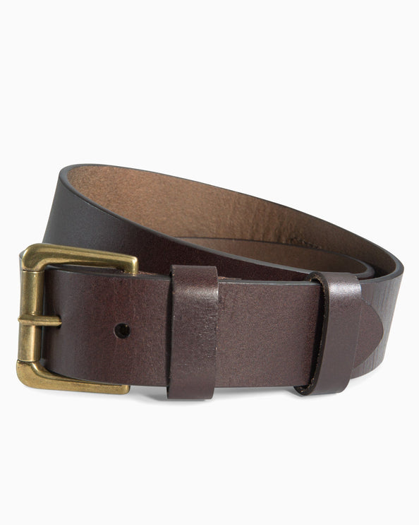 Leather ST Patch Belt