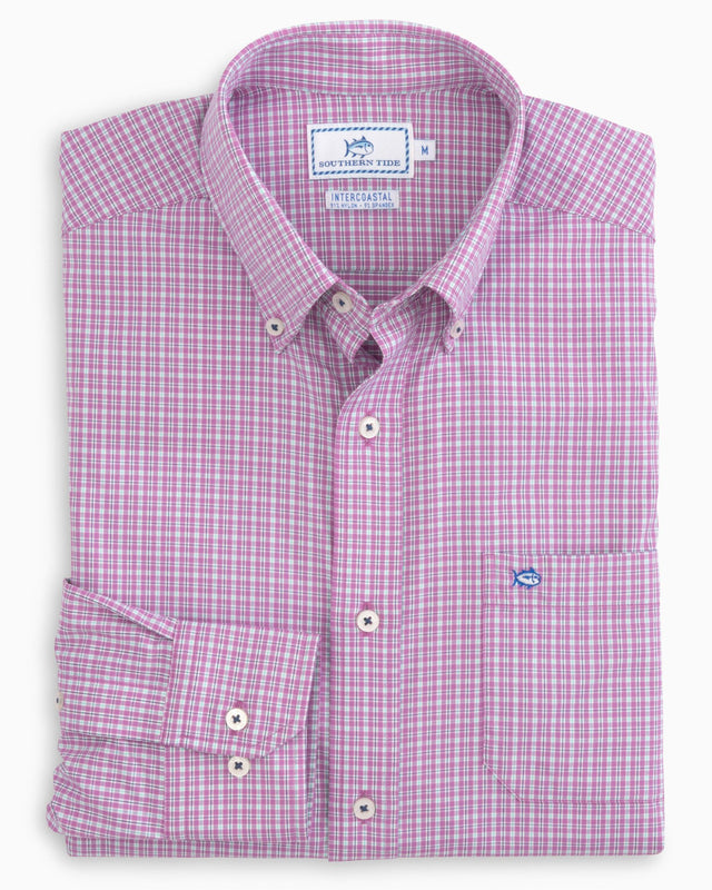 Linkside Plaid Intercoastal Performance Shirt | Southern Tide