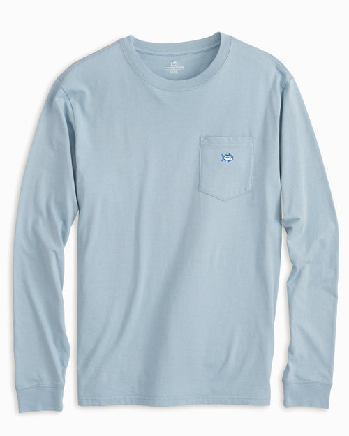 Long Sleeve Embroidered Pocket T-Shirt | Southern Tide