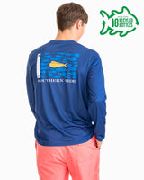 Mahi Mahi Fish Flag Long Sleeve Performance T-shirt | Southern Tide