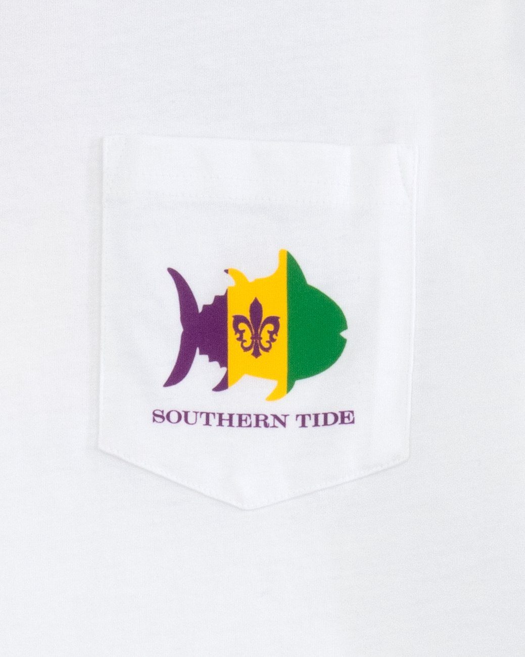 Mardi Gras Flag Long Sleeve T-Shirt