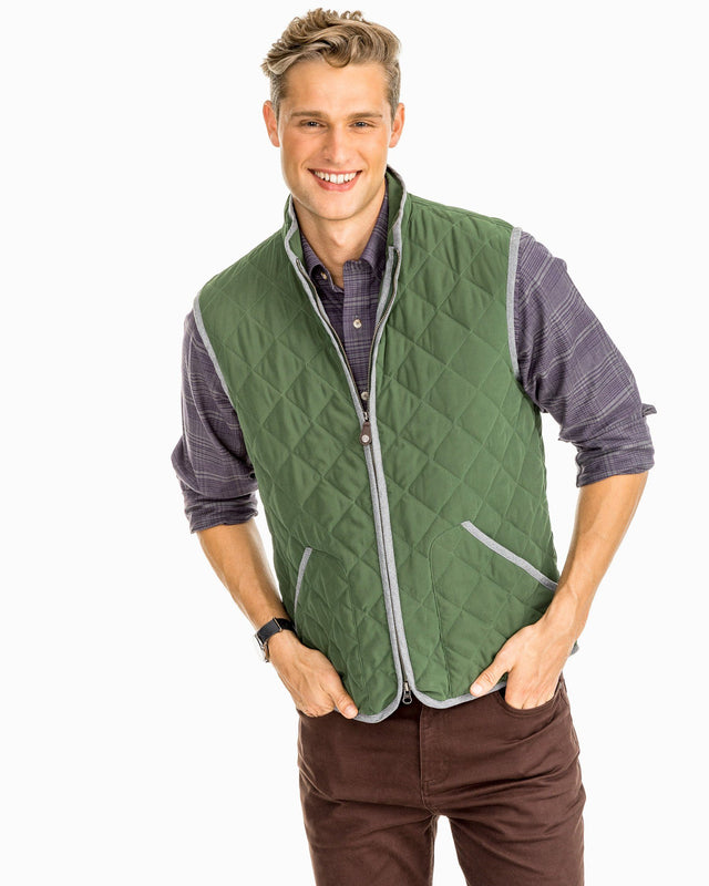 Doubleback Quilted Field Vest | Southern Tide