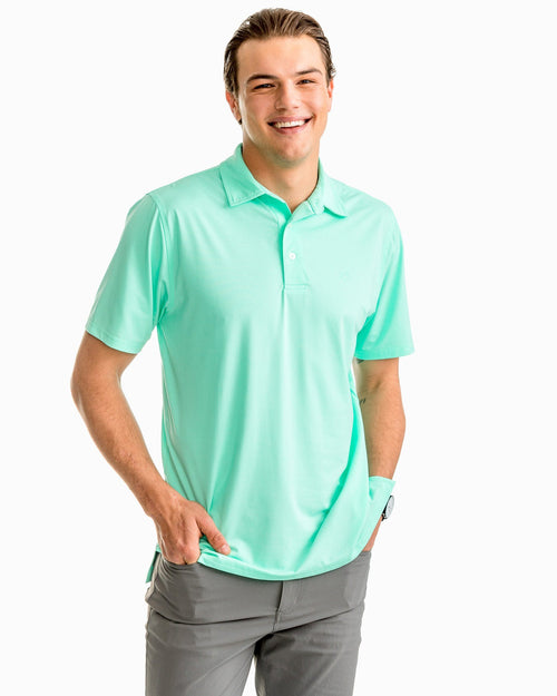 Driver Heathered Performance Polo Shirt | Southern Tide