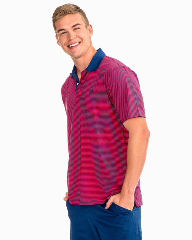 Feeder Stripe Performance Polo | Southern Tide