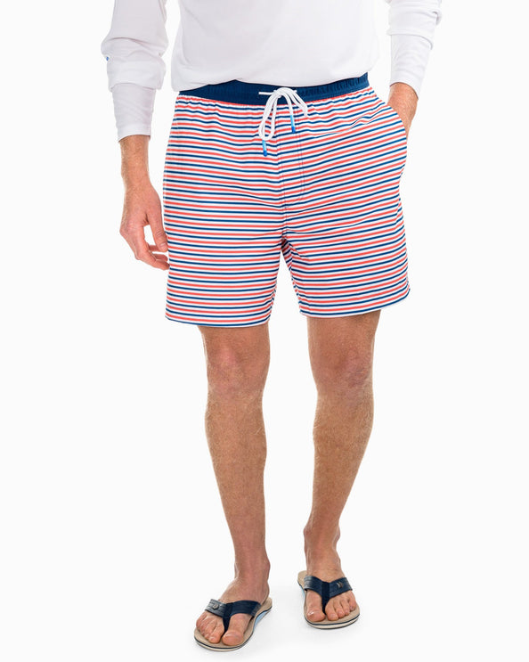 Image of Freedom Rocks Striped Swim Trunk