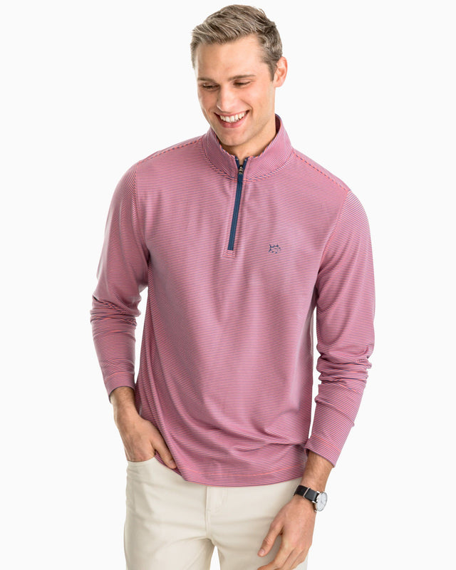 Headway Stripe Performance 1/4 Zip Pullover | Southern Tide