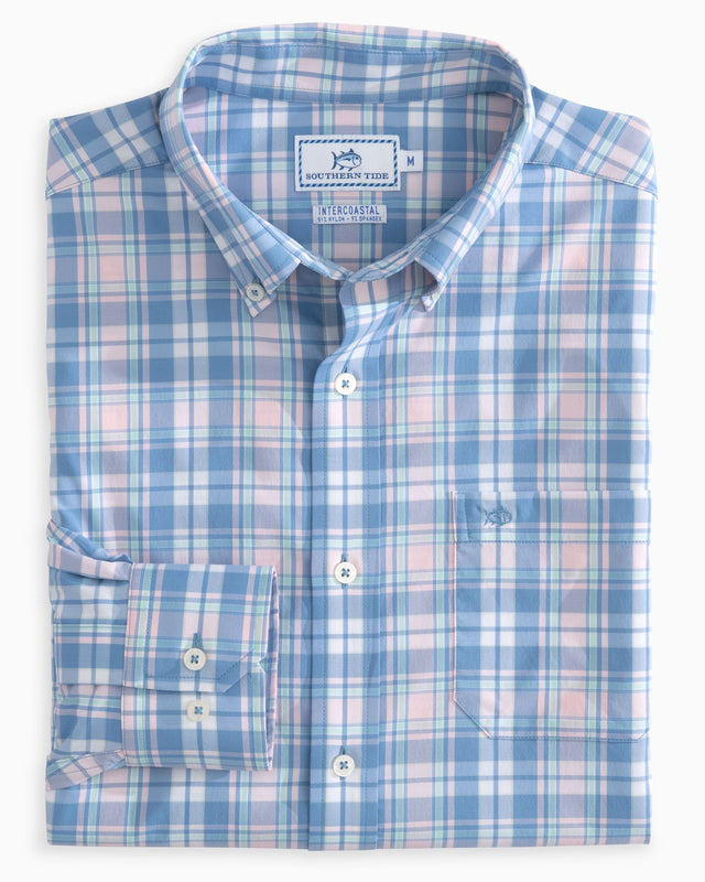 Inland Plaid Intercoastal Performance Sport Shirt | Southern Tide