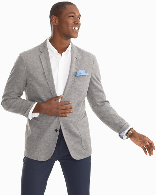 James Island Heathered Knit Grey Sport Jacket | Southern Tide