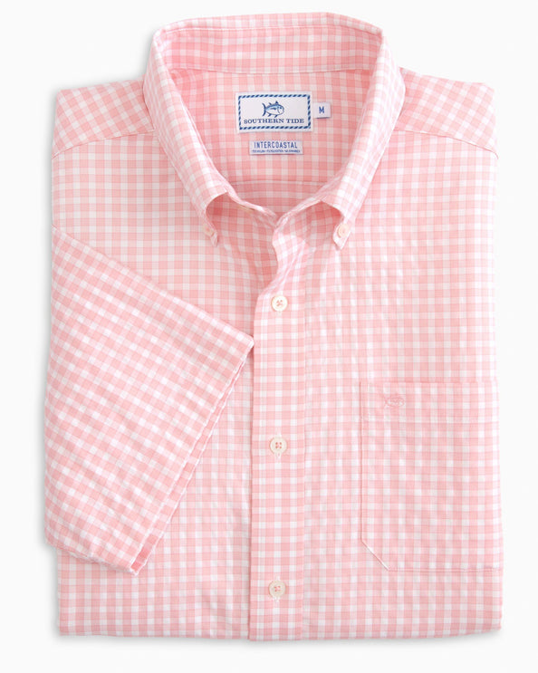 Lucayan Gingham Intercoastal Short Sleeve Button Down Shirt