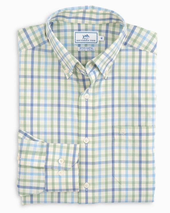 Image of Rivercourse Plaid Intercoastal Performance Shirt