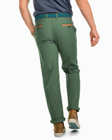 RT-7 Rugged 5-Pocket Canvas Stretch Pant - Duck Green | Southern Tide