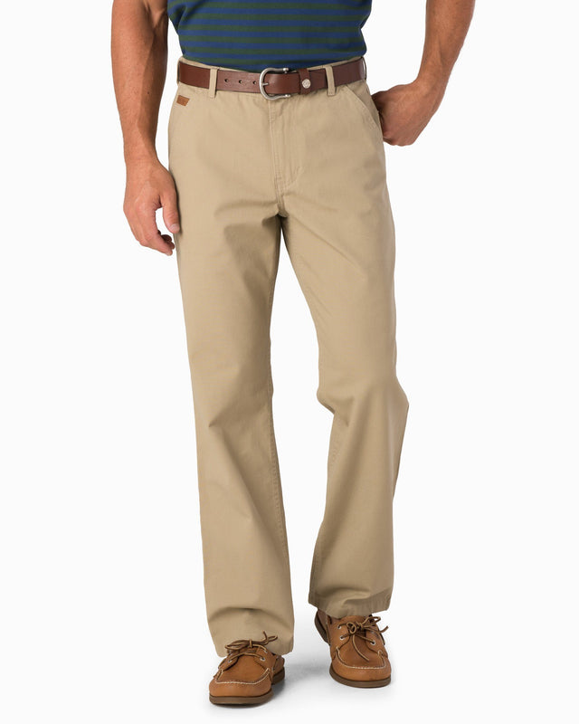 RT-7 Rugged 5-Pocket Canvas Stretch Pant - Sandstone Khaki | Southern Tide
