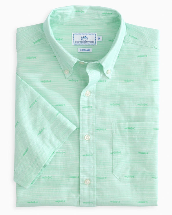 Seagrass Short Sleeve Button Down Shirt