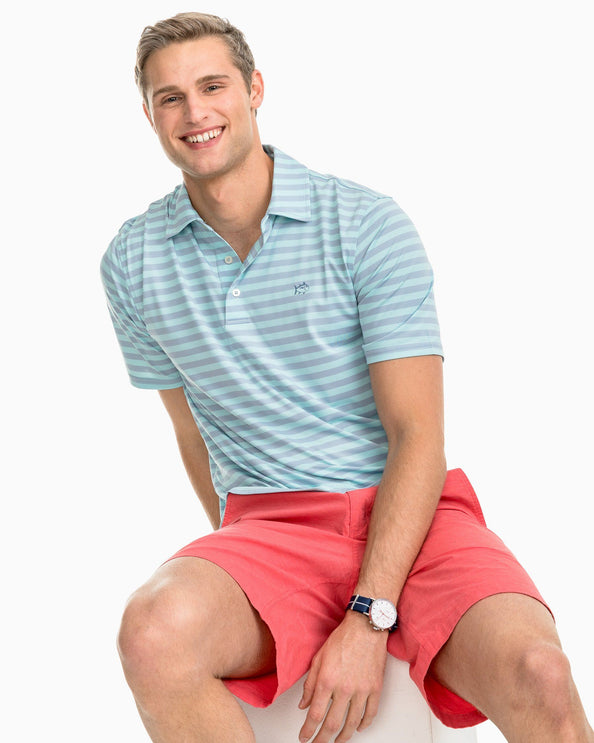 Sonar Performance Striped Polo Shirt