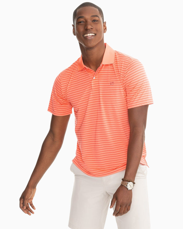 Summertide Performance Striped Polo Shirt
