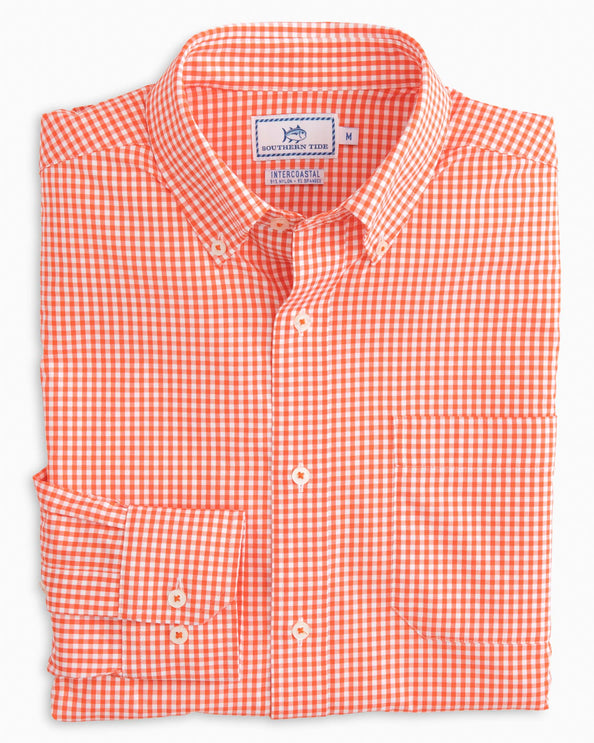 Team Colors Gingham Intercoastal Performance Sport Shirt