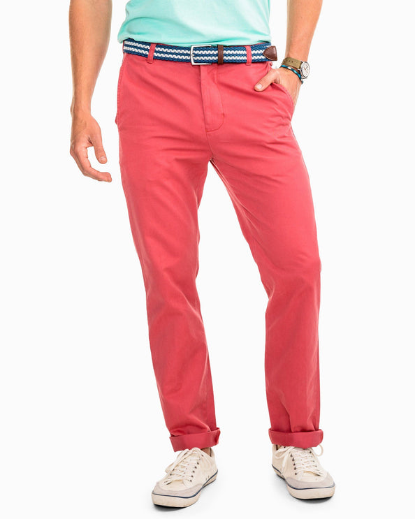 The Skipjack Pant - Charleston Red