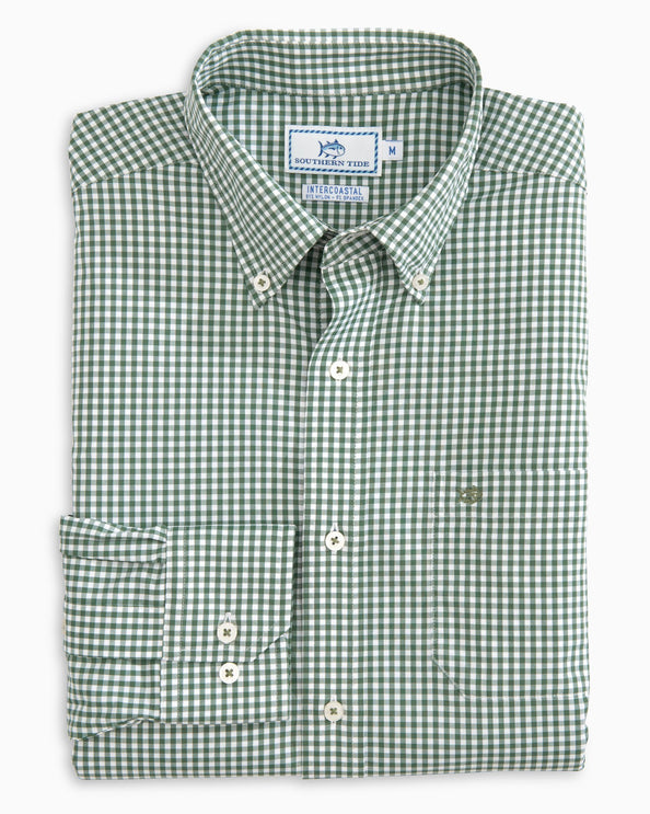 Image of Wintertime Gingham Intercoastal Performance Shirt