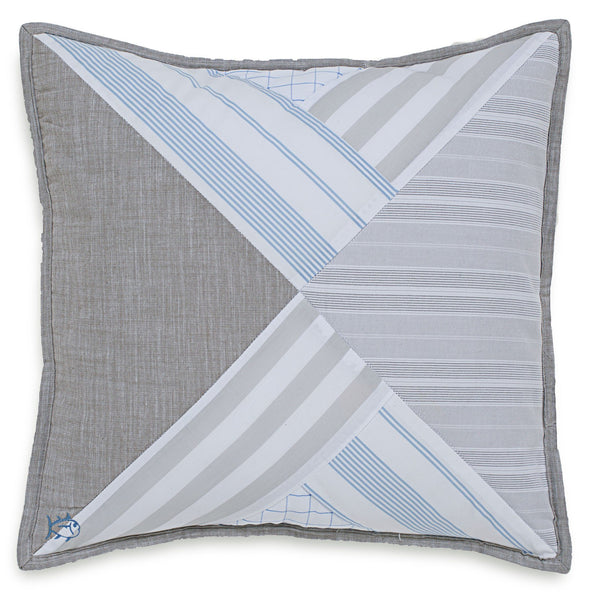 Nautical Mile Square Decorative Pillow
