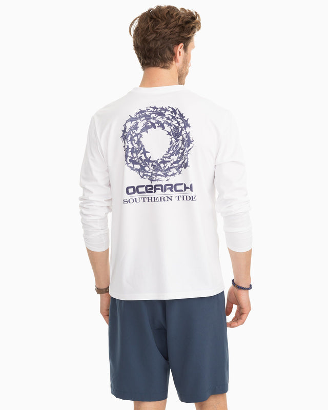 Ocearch Long Sleeve Shark Circle Performance T-shirt | Southern Tide