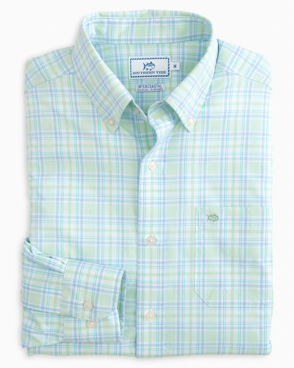 Oyster Rake Plaid Intercoastal Performance Sport Shirt
