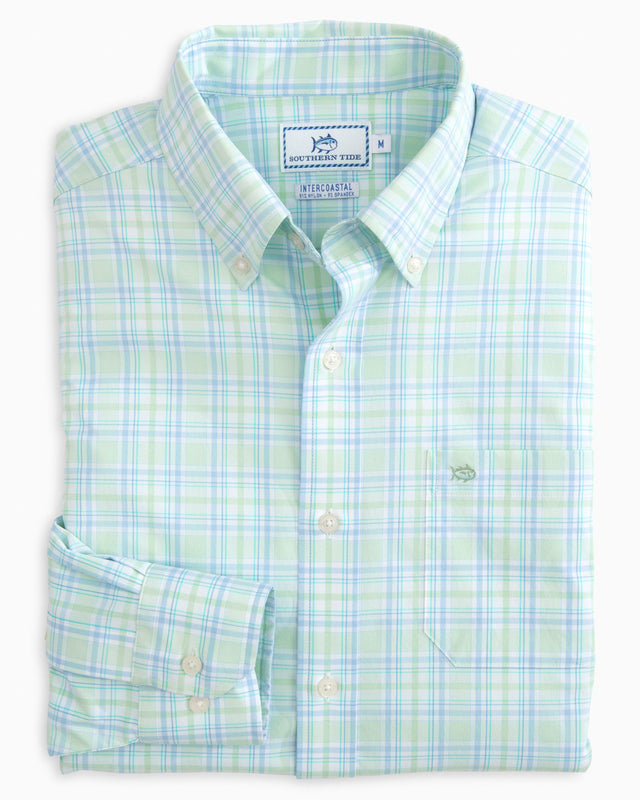 Oyster Rake Plaid Intercoastal Performance Shirt | Southern Tide