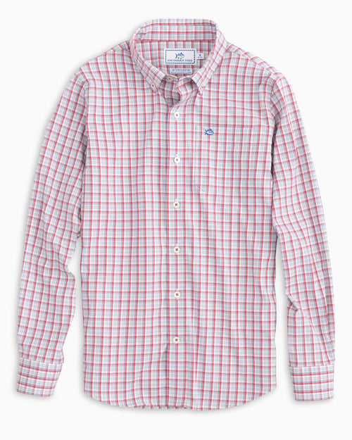 Boys' Patriotic Plaid Intercoastal Shirt | Southern Tide