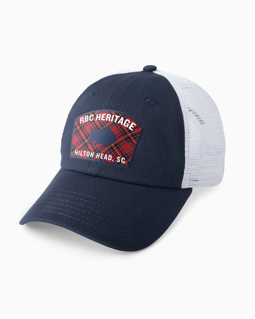 RBC Heritage Plaid Skipjack Trucker Hat | Southern Tide