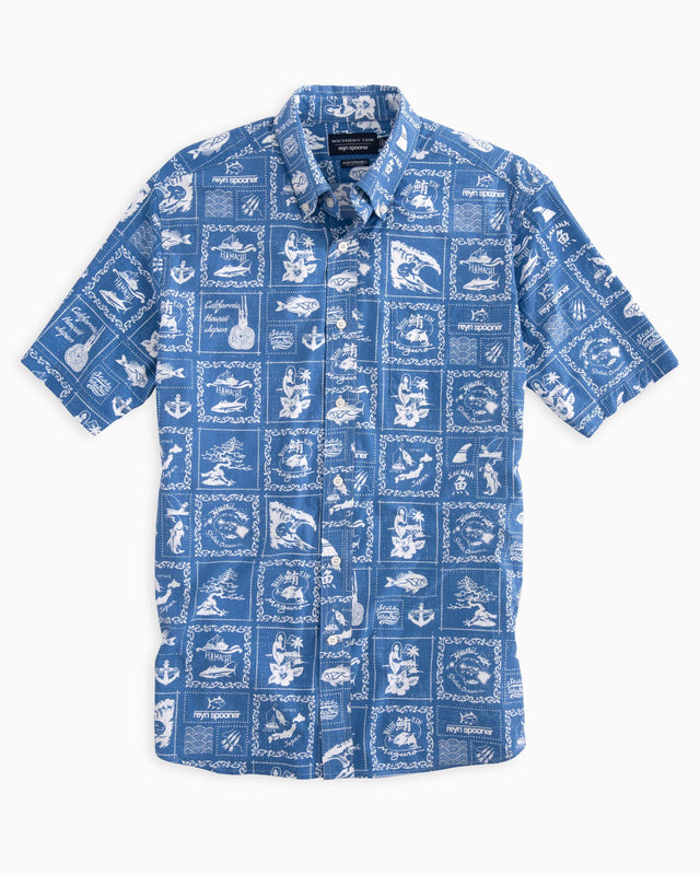 Reyn Spooner Bandana Print Intercoastal Performance Short Sleeve Shirt | Southern Tide