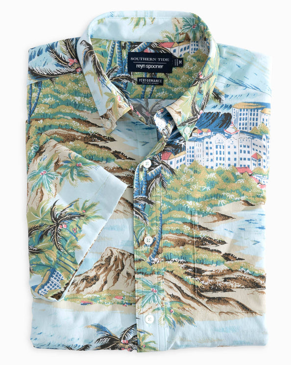 Reyn Spooner Island Time Intercoastal Performance Short Sleeve Shirt