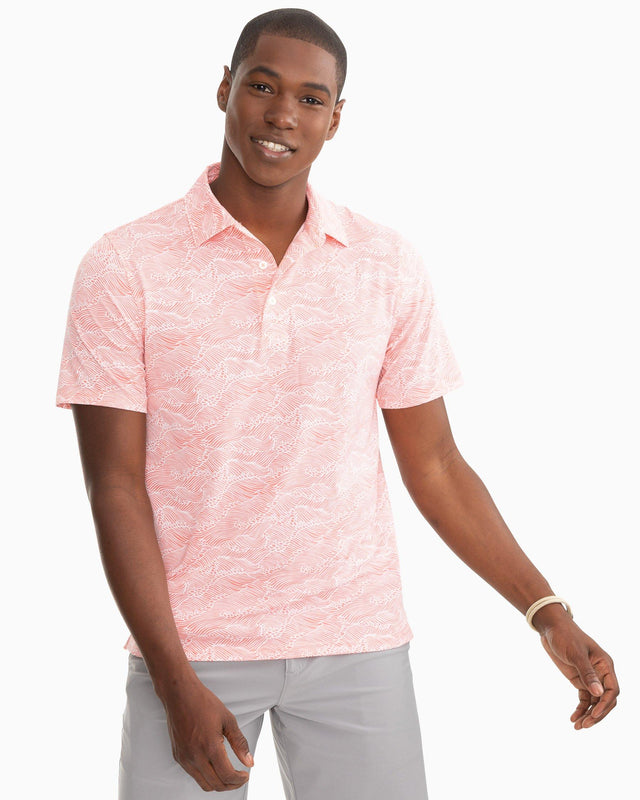Reyn Spooner Wave Print Performance Polo | Southern Tide