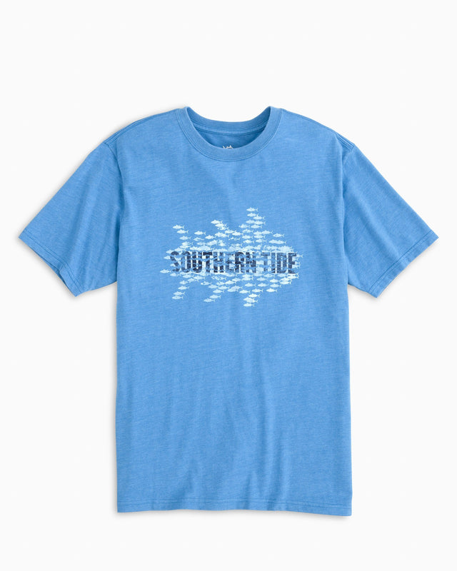 School of Tuna Front Print Heather T-shirt | Southern Tide