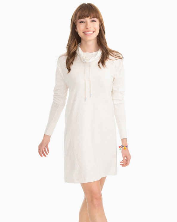 Scuba Funnel Neck Pullover Dress