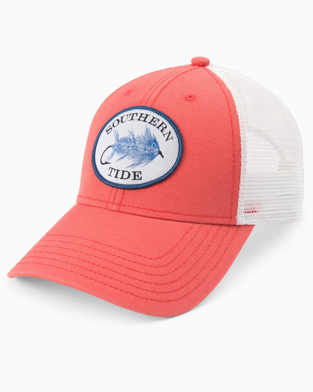 Skipjack Fly Patch Washed Trucker Hat | Southern Tide