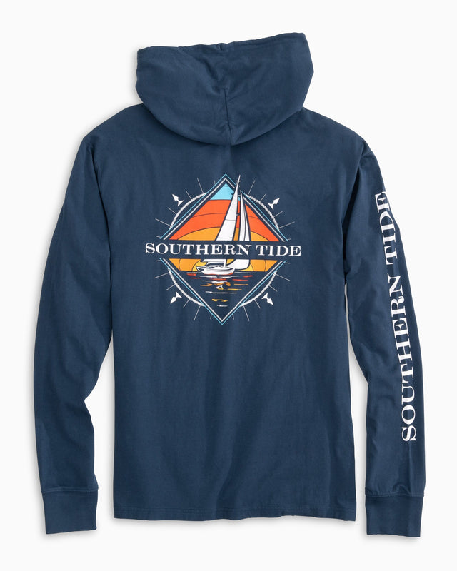 Southern Sailboat Long Sleeve Hoodie T-shirt | Southern Tide