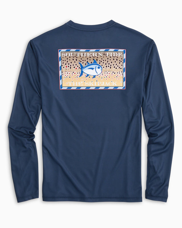 Southern Slam Series Brown Trout Long Sleeve Performance T-shirt | Southern Tide