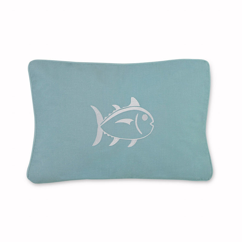 Tropical Retreat Embroidered Skipjack Decorative Pillow | Southern Tide