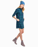 Alyssa Coastal Watch Plaid Shirtdress | Southern Tide