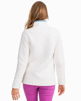 Women's Funnel Neck Quilted Pullover | Southern Tide