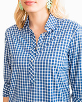 Gingham Intercoastal Hadley Performance Popover | Southern Tide