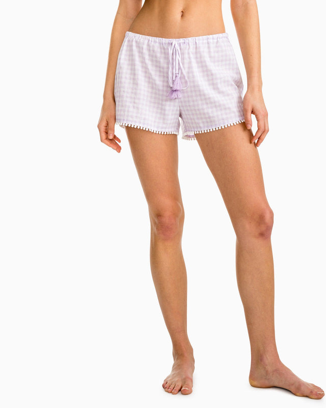 Heathered Gingham Sleep Short | Southern Tide