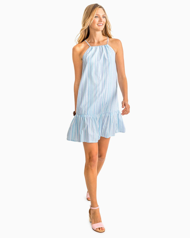Ivette Multi Tonal Striped Seersucker Dress | Southern Tide