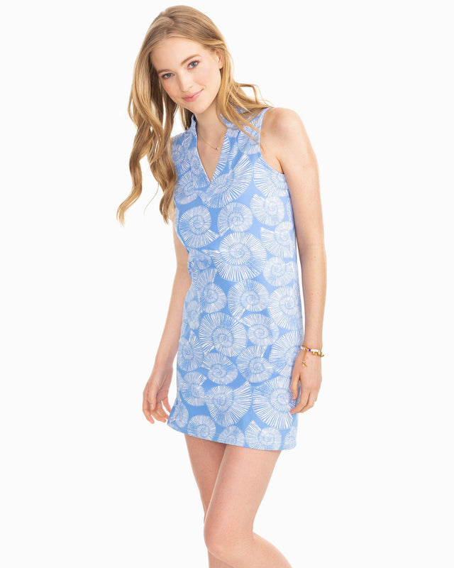 Jaelynn Nautilus Print Performance Dress | Southern Tide