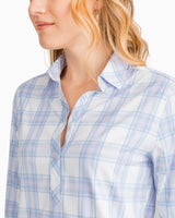 Lost Beach Plaid Hadley Intercoastal Performance Popover | Southern Tide