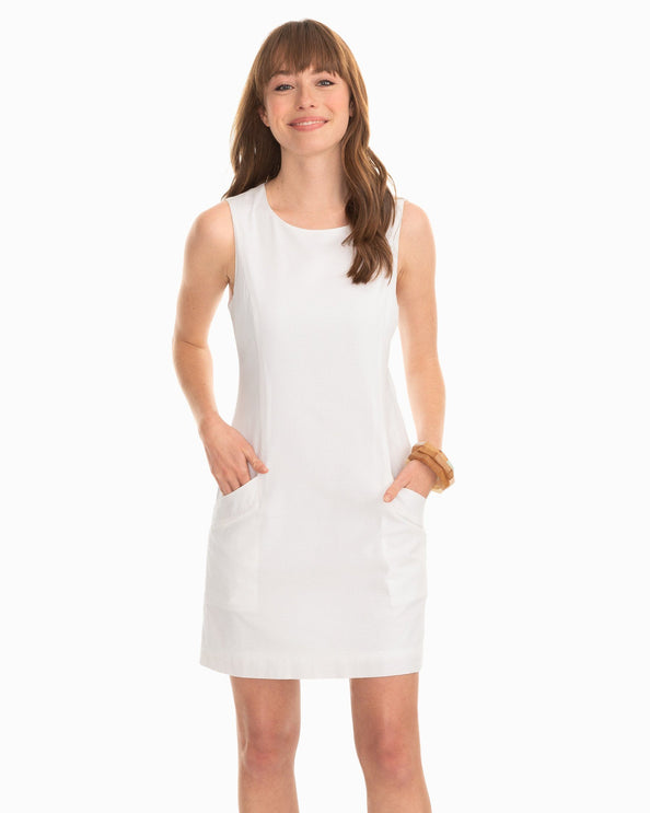 Paislee White Seersucker Shift Dress