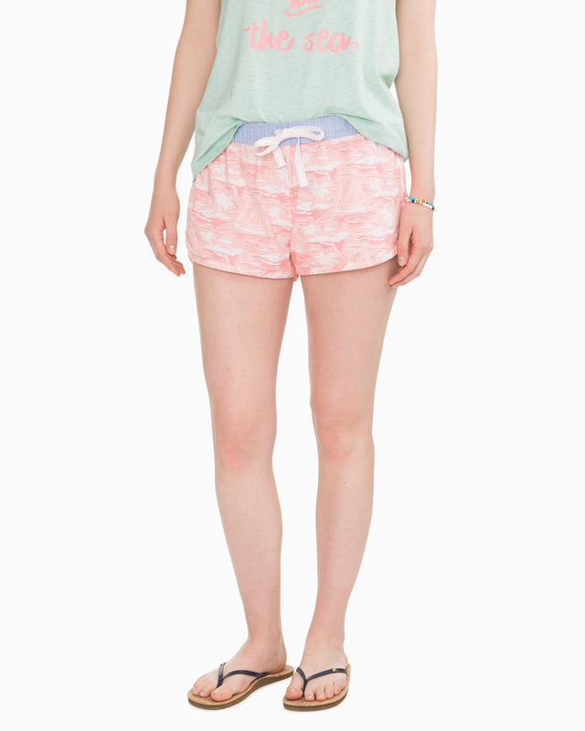 Pearl Lagoon Knit Lounge Short | Southern Tide