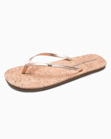 Womens Promenade Cork Flip Flop - Metallic Rose Gold | Southern Tide