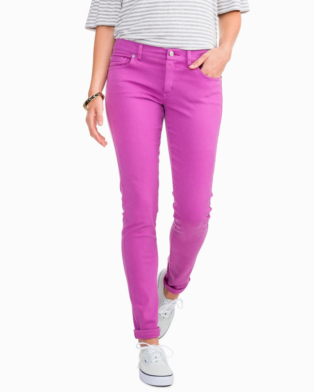 Resort Colored Skinny Jean - Radiant Orchid | Southern Tide