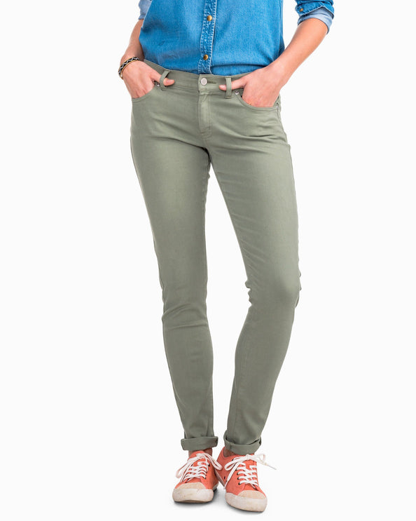 Image of Resort Colored Skinny Jean - Seagrass Green