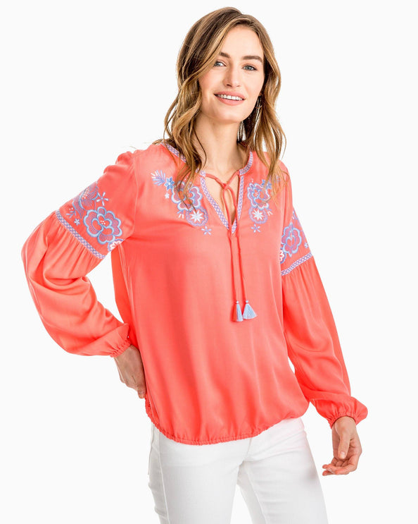 Sienna Embroidered Boho Top